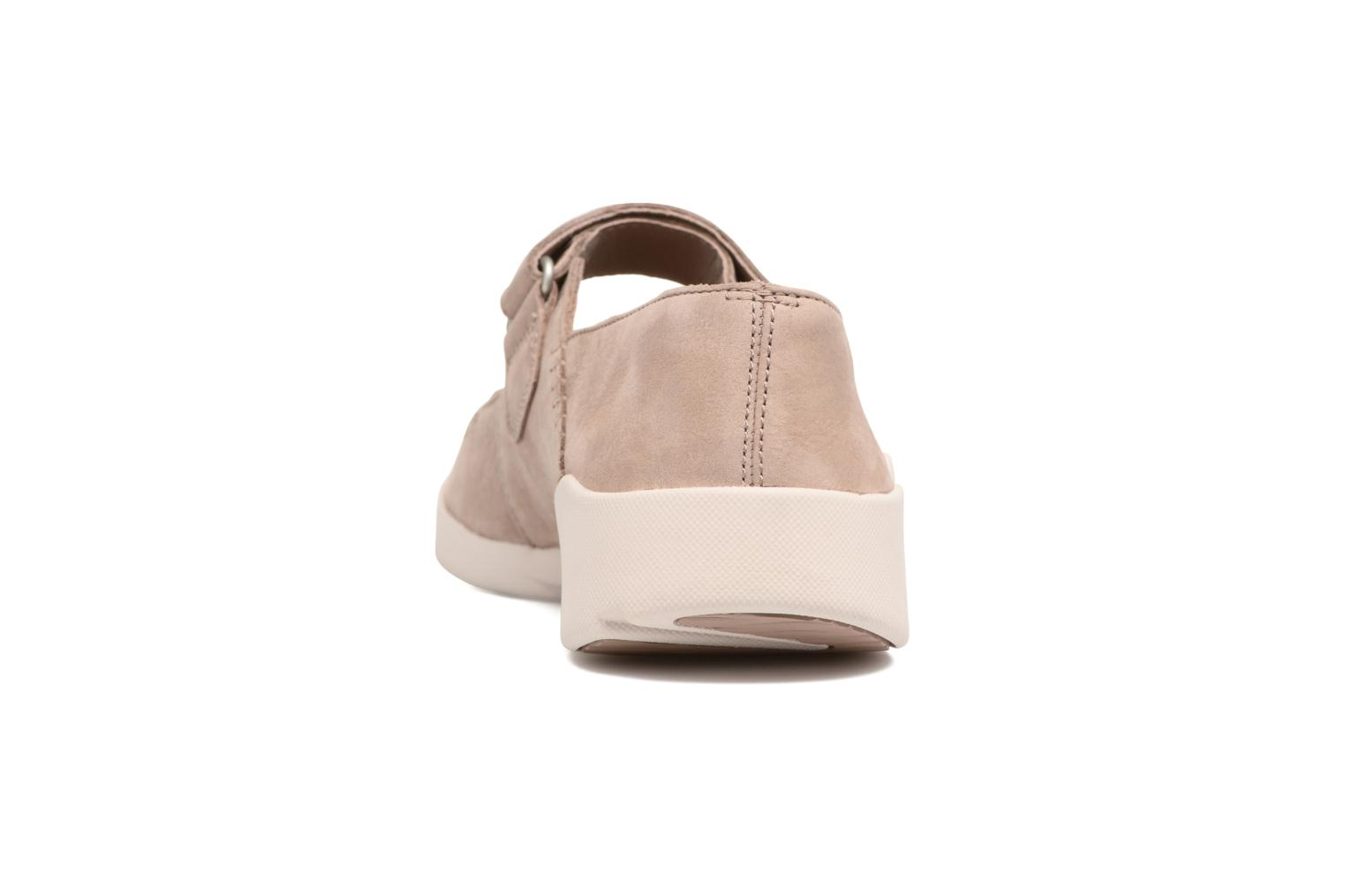 Ballet pumps Clarks Tri Amanda Brown view from the right