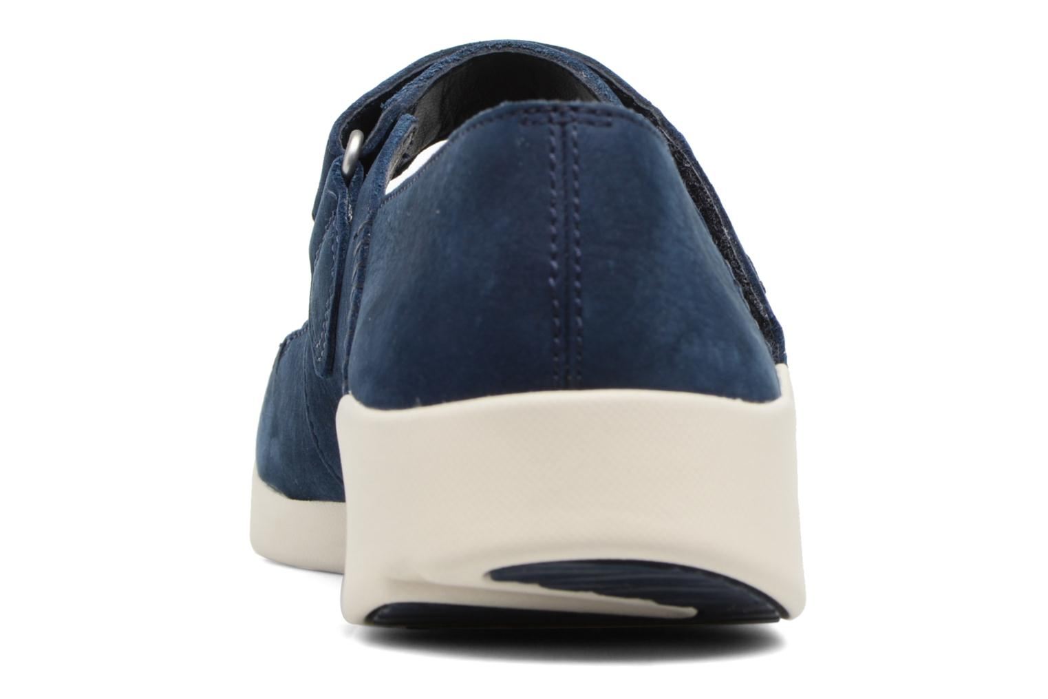 Ballet pumps Clarks Tri Amanda Blue view from the right