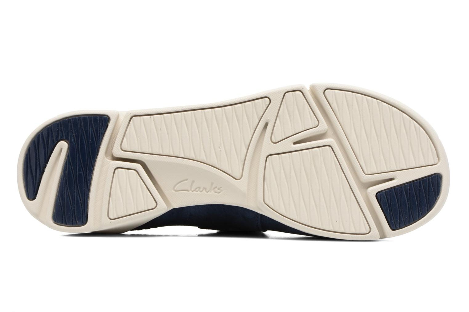 Ballet pumps Clarks Tri Amanda Blue view from above