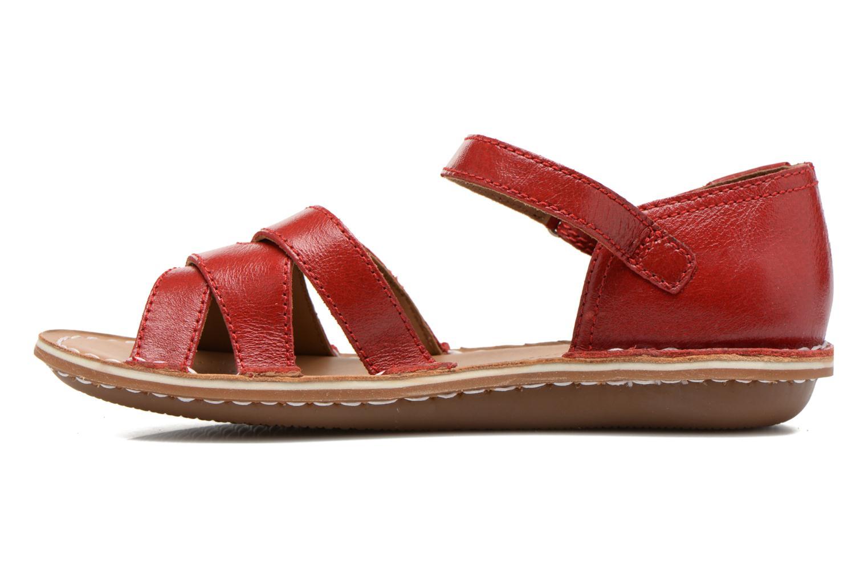 Sandales et nu-pieds Clarks Tustin Sahara Rouge vue face