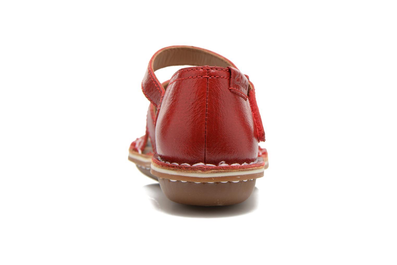Sandales et nu-pieds Clarks Tustin Sahara Rouge vue droite