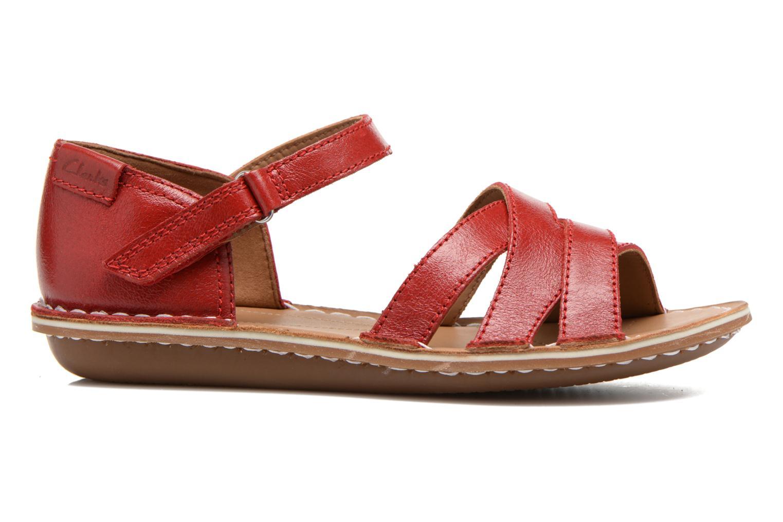 Sandales et nu-pieds Clarks Tustin Sahara Rouge vue derrière