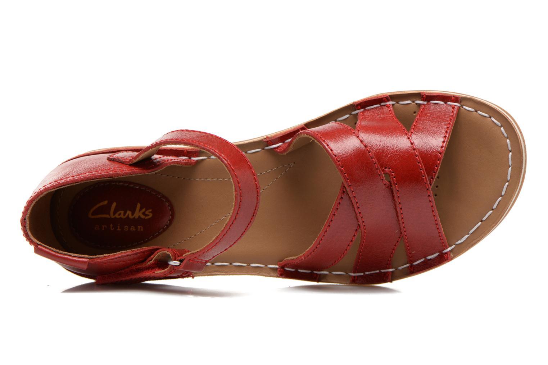 Sandales et nu-pieds Clarks Tustin Sahara Rouge vue gauche