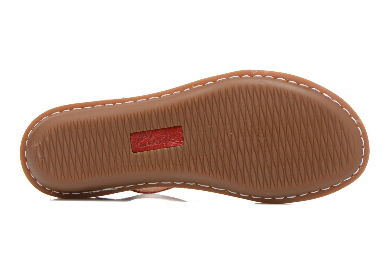 Sandales et nu-pieds Clarks Tustin Sahara Rouge vue haut