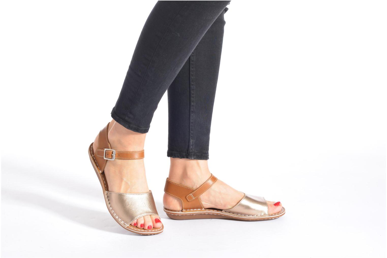 Sandales et nu-pieds Clarks Tustin Sinitta Noir vue bas / vue portée sac