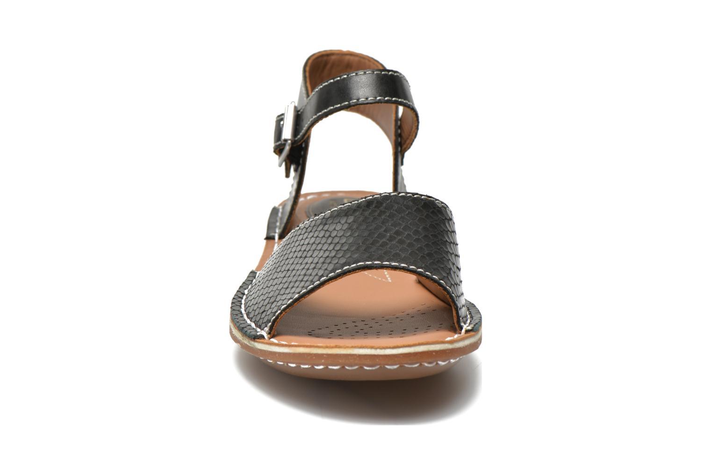 Sandales et nu-pieds Clarks Tustin Sinitta Noir vue portées chaussures