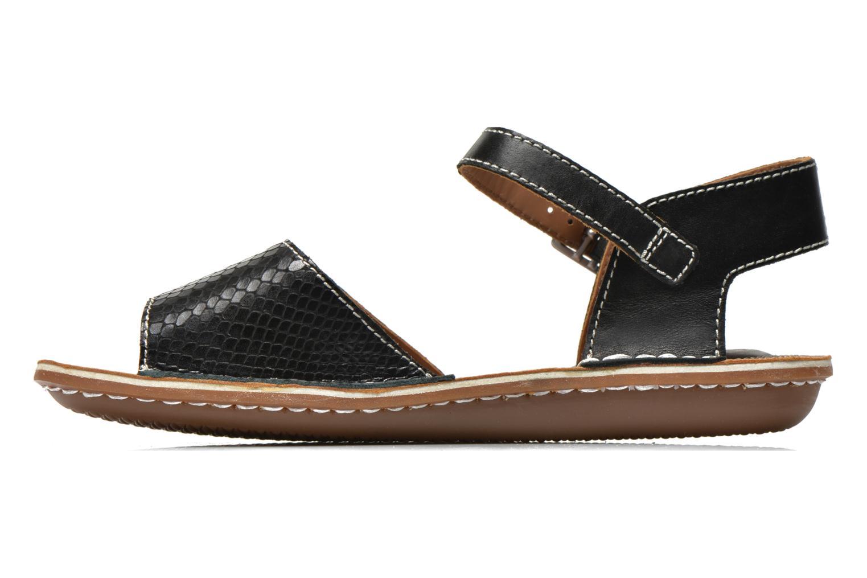 Sandales et nu-pieds Clarks Tustin Sinitta Noir vue face