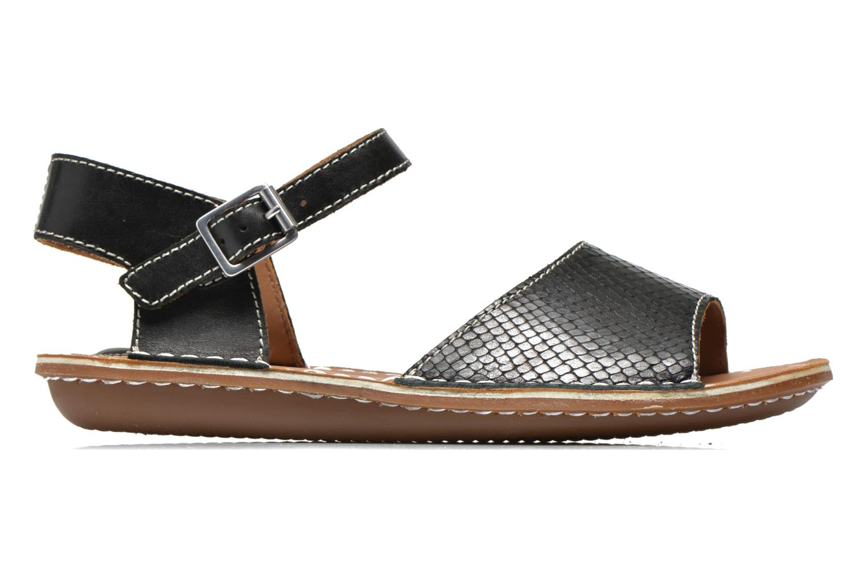 Sandales et nu-pieds Clarks Tustin Sinitta Noir vue derrière