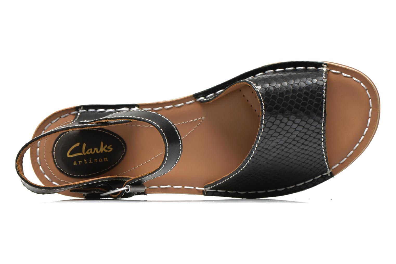 Sandales et nu-pieds Clarks Tustin Sinitta Noir vue gauche