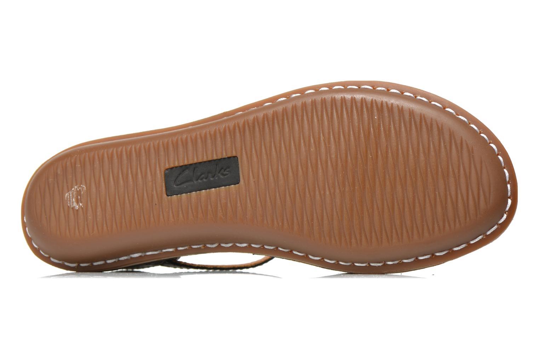 Sandales et nu-pieds Clarks Tustin Sinitta Noir vue haut