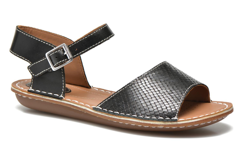Sandales et nu-pieds Clarks Tustin Sinitta Noir vue détail/paire