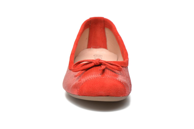 Ballerines Coco et abricot Belline 3 Rouge vue portées chaussures