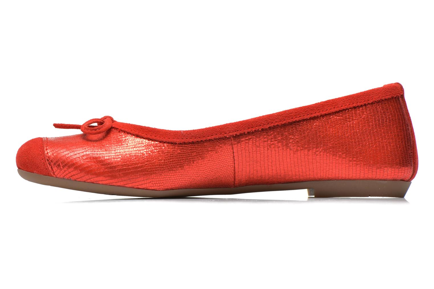 Ballet pumps Coco et abricot Belline 3 Red front view