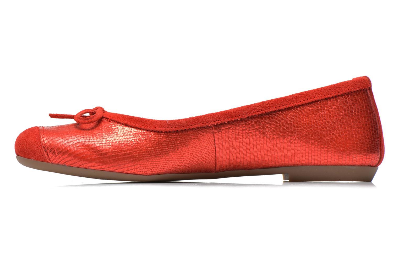 Ballet pumps Coco et abricot Belline 3 Red front view