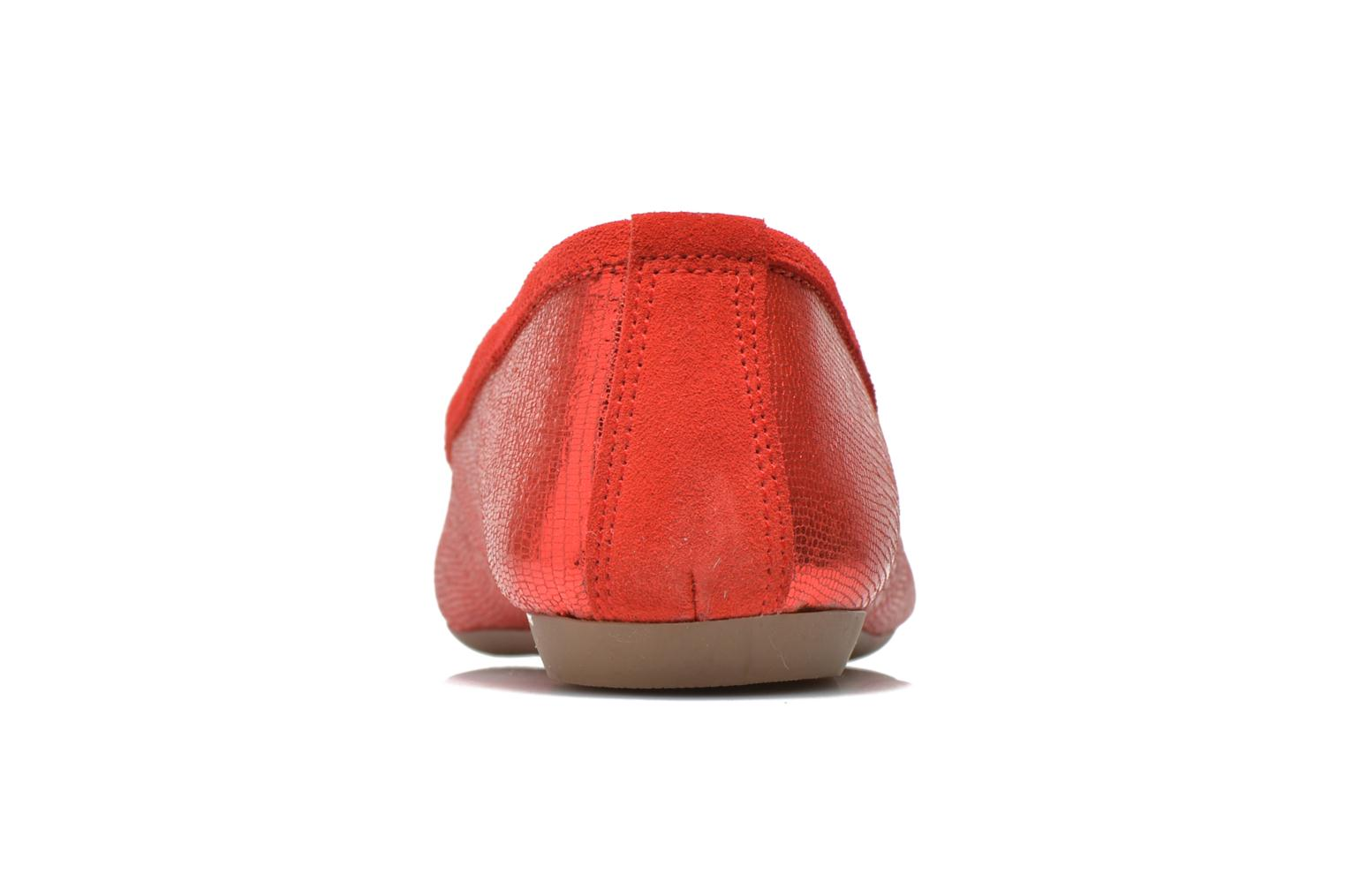 Ballet pumps Coco et abricot Belline 3 Red view from the right
