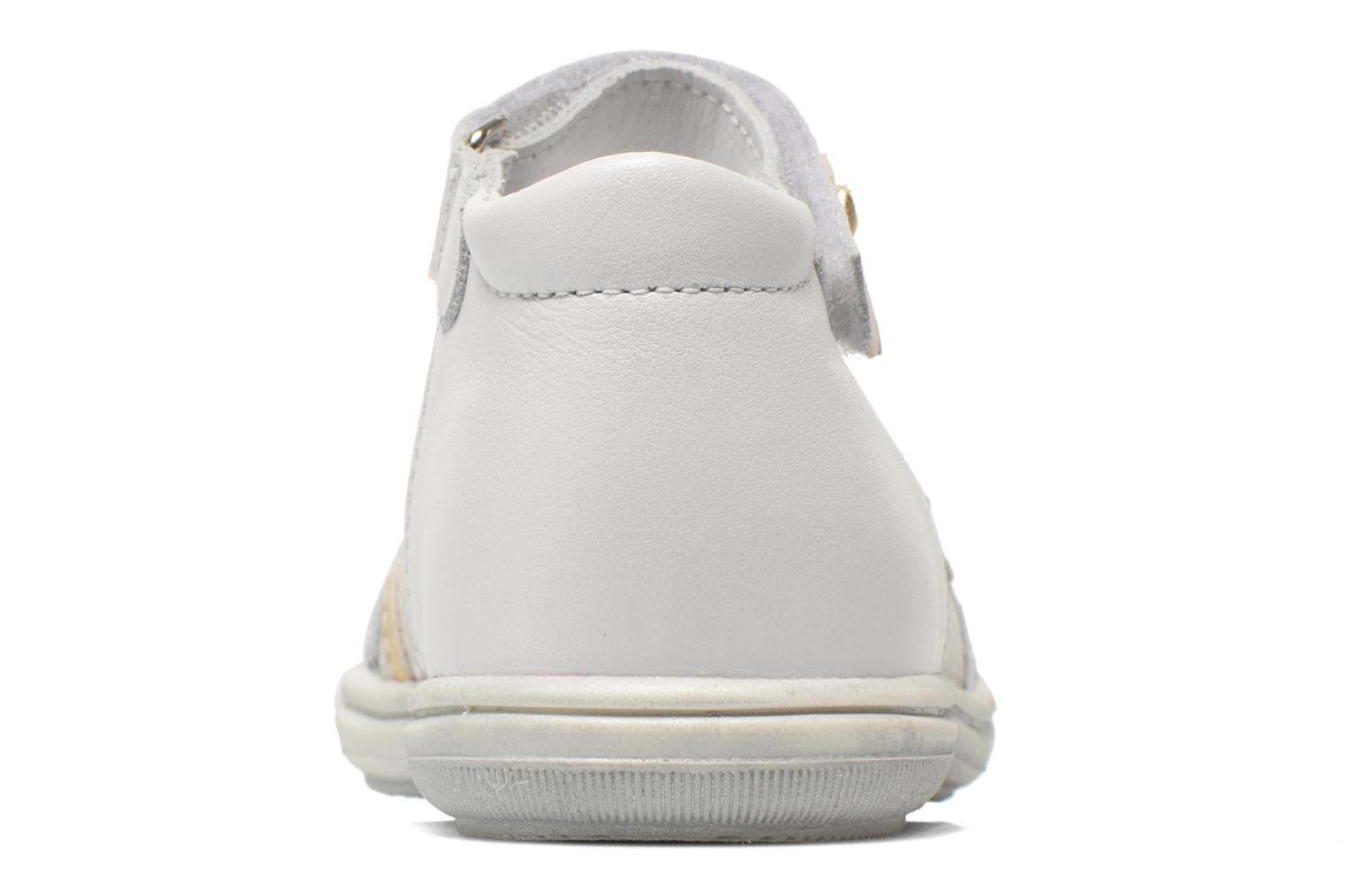 Ballet pumps Bopy Belene White view from the right