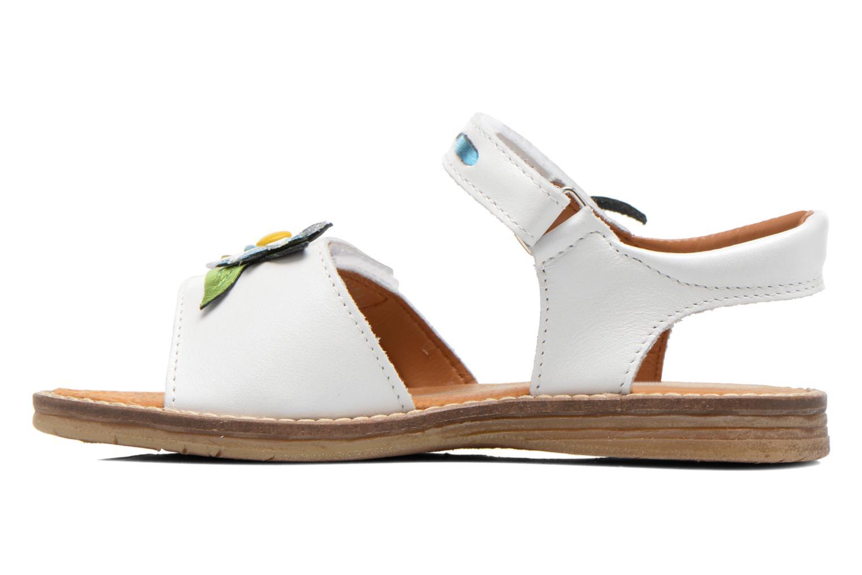 Sandalen Bopy Ecolor weiß ansicht von vorne