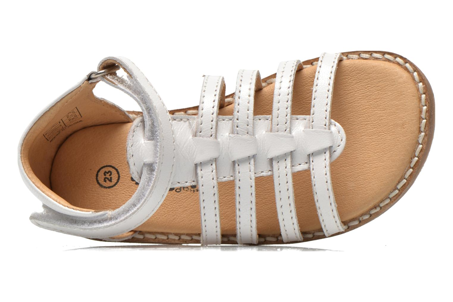 Sandals Bopy Hamica kouki White view from the left