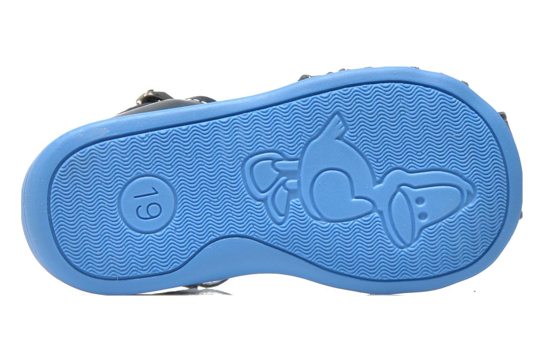 Sandales et nu-pieds Bopy Pablo Bleu vue haut