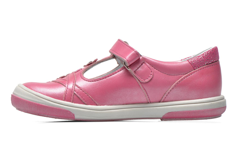Sko med velcro Bopy Sania Pink se forfra