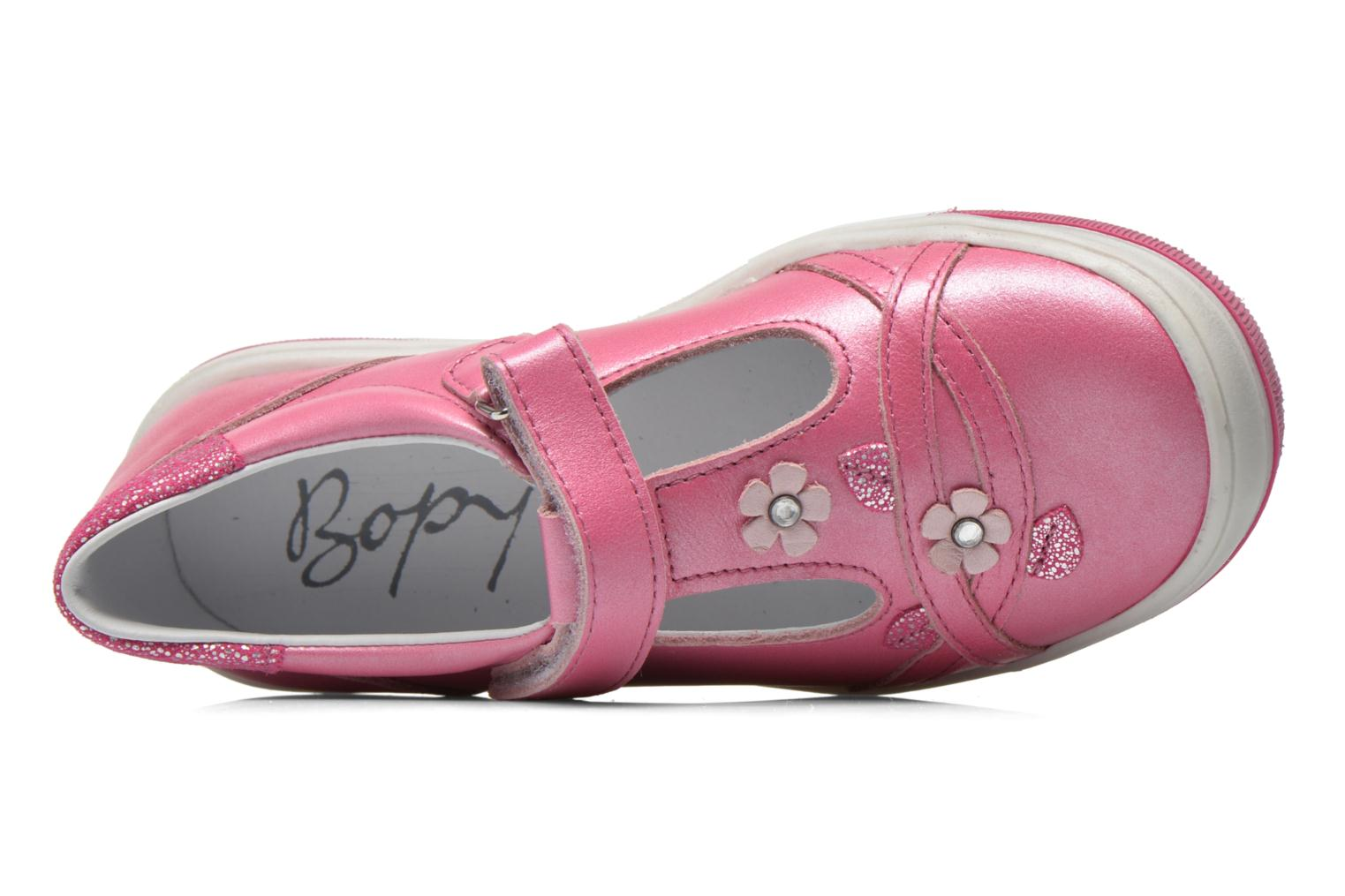 Velcro shoes Bopy Sania Pink view from the left