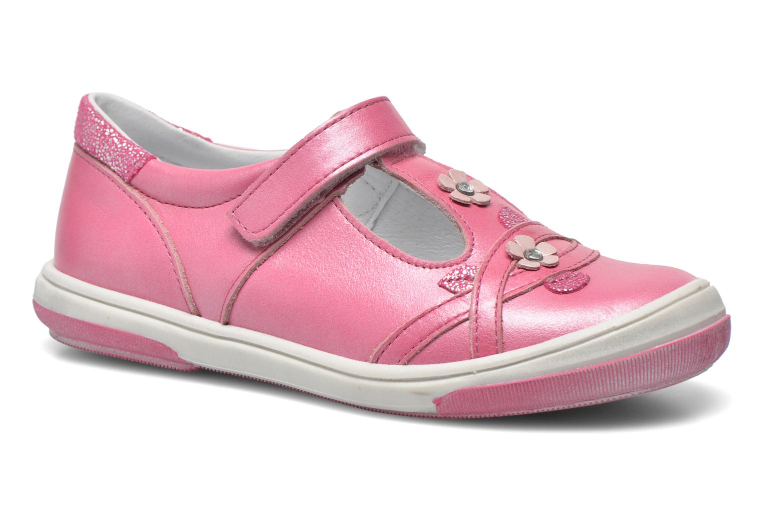 Velcro shoes Bopy Sania Pink detailed view/ Pair view