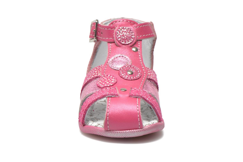 Sandales et nu-pieds Bopy Zebule Rose vue portées chaussures