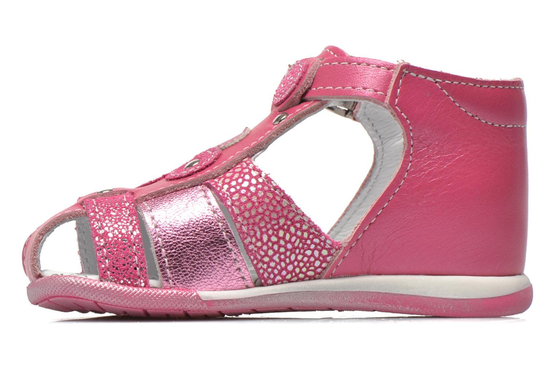 Sandalen Bopy Zebule rosa ansicht von vorne