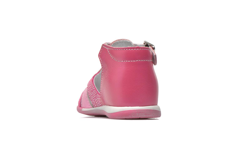 Sandalen Bopy Zebule rosa ansicht von rechts