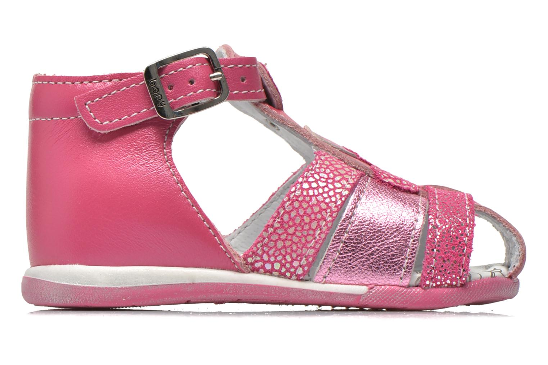 Sandalen Bopy Zebule rosa ansicht von hinten