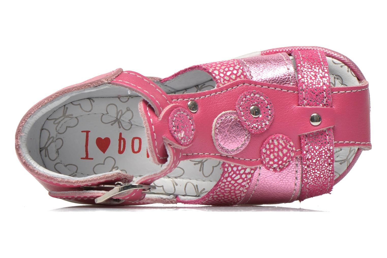 Sandales et nu-pieds Bopy Zebule Rose vue gauche