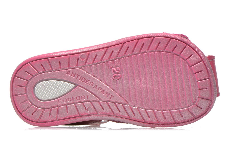 Sandalen Bopy Zebule rosa ansicht von oben