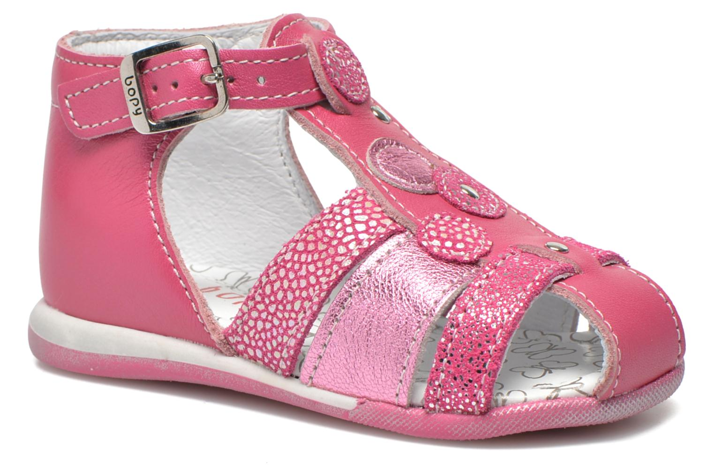Sandales et nu-pieds Bopy Zebule Rose vue détail/paire