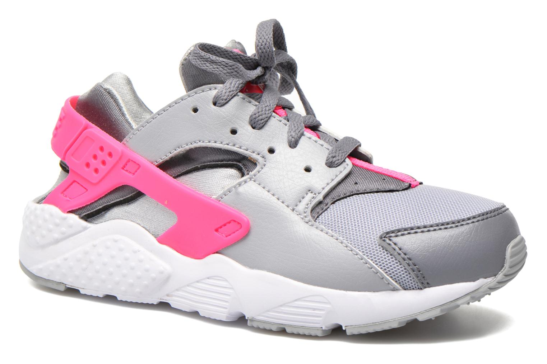 Nike Huarache Rose Et Gris