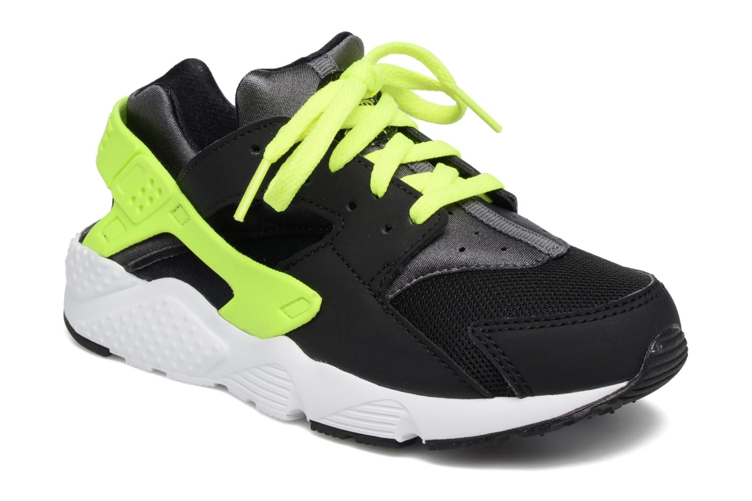 Nike Huarache Run (Ps) Black/volt-dark grey-white