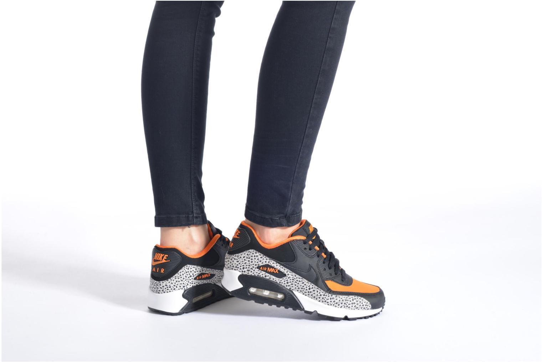 Sneaker Nike Air Max 90 Safari (Gs) mehrfarbig ansicht von unten / tasche getragen