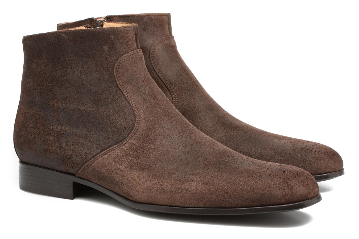 Rija Boots perfo Bronx light Marron foncé