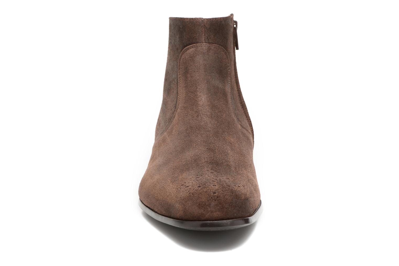 Rija Boots perfo Bronx light Marron foncé