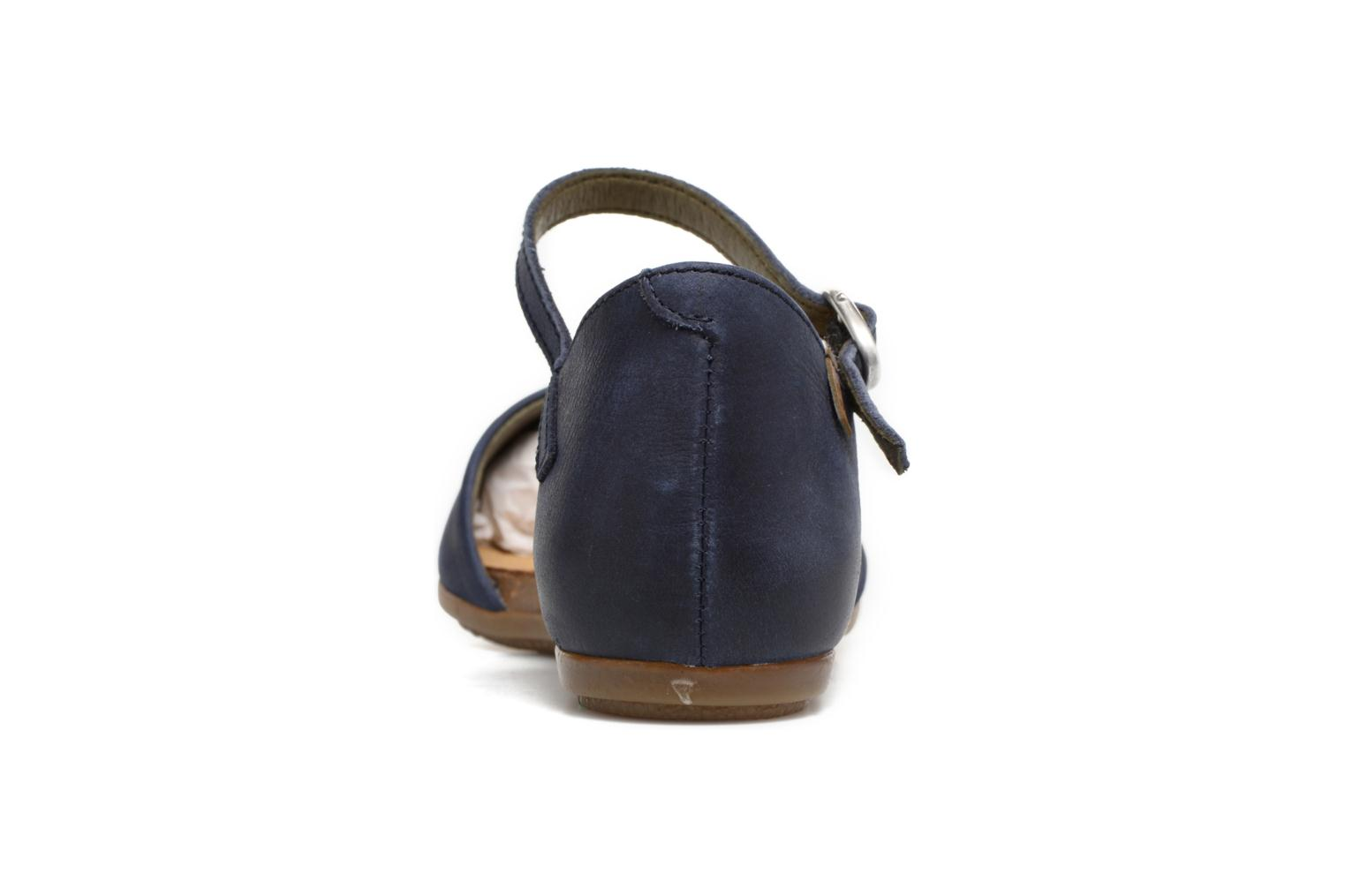 Ballet pumps El Naturalista Stella ND54 Blue view from the right