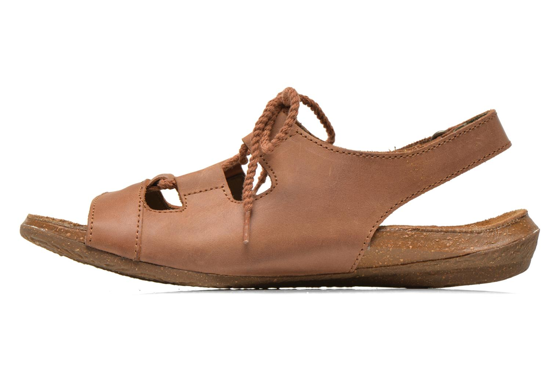 Sandales et nu-pieds El Naturalista Wakataua ND73 Marron vue face