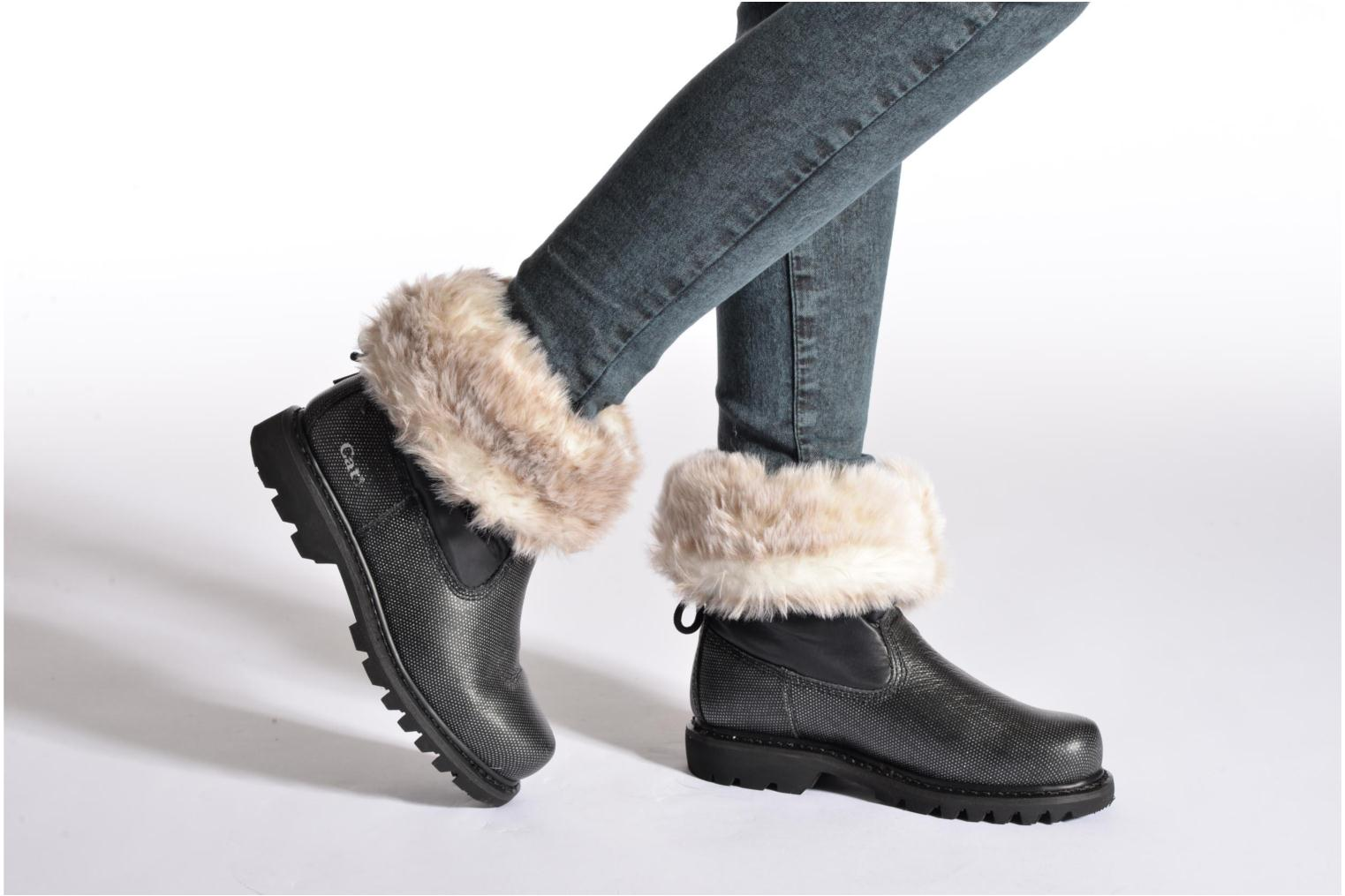 Ankle boots Caterpillar Bruiser Scrunch Fur Black view from underneath / model view