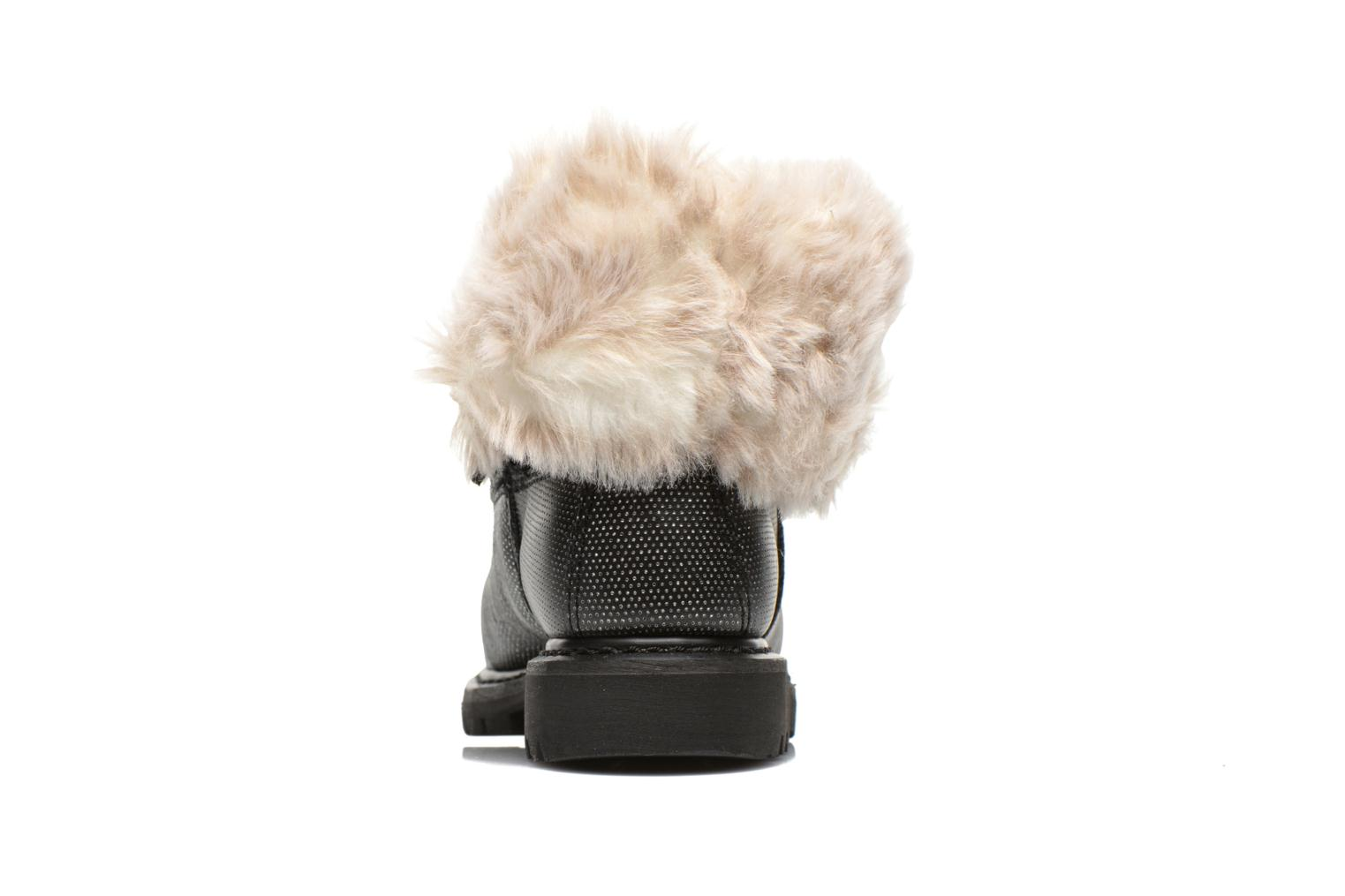 Ankle boots Caterpillar Bruiser Scrunch Fur Black view from the right
