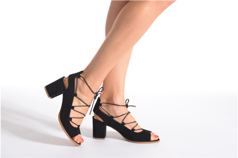 Sandalen Made by SARENZA Discow Girl #5 schwarz ansicht von unten / tasche getragen