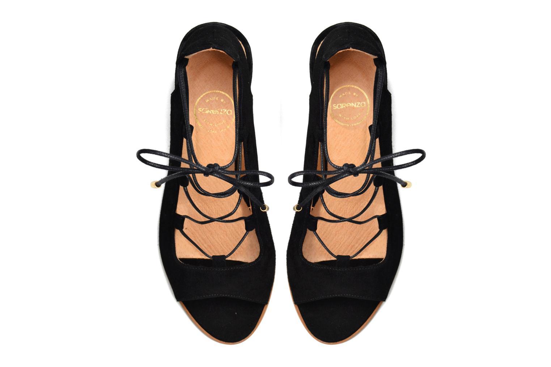 Sandalen Made by SARENZA Discow Girl #5 schwarz ansicht von oben