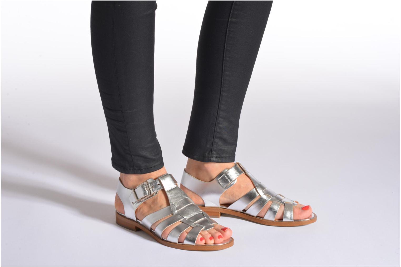Sandalen Made by SARENZA Menthe Hello #1 silber ansicht von unten / tasche getragen