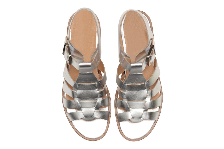 Sandalen Made by SARENZA Menthe Hello #1 silber schuhe getragen
