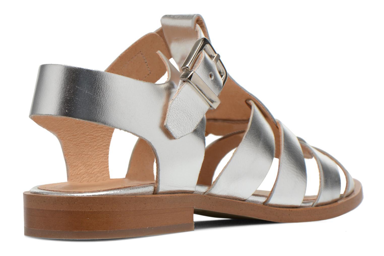 Sandales et nu-pieds Made by SARENZA Menthe Hello #1 Argent vue face