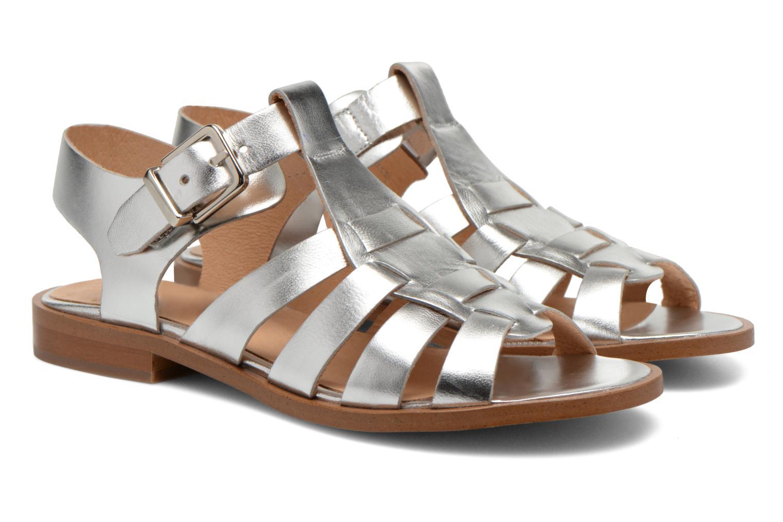 Sandales et nu-pieds Made by SARENZA Menthe Hello #1 Argent vue derrière