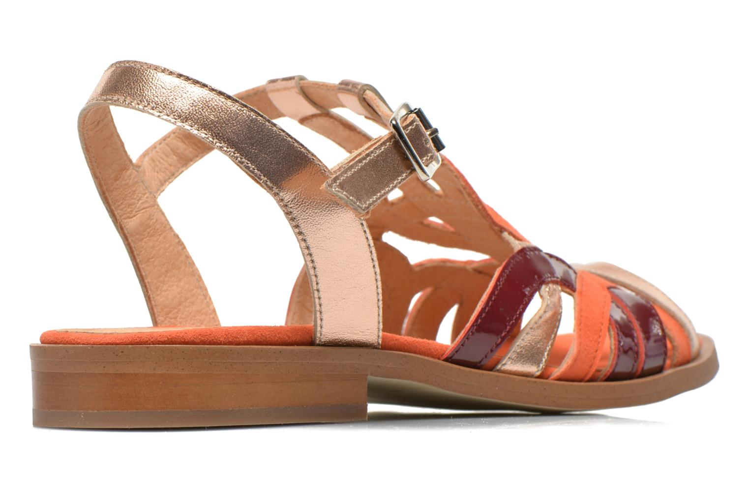 Sandalen Made by SARENZA Square Simone #2 orange schuhe getragen
