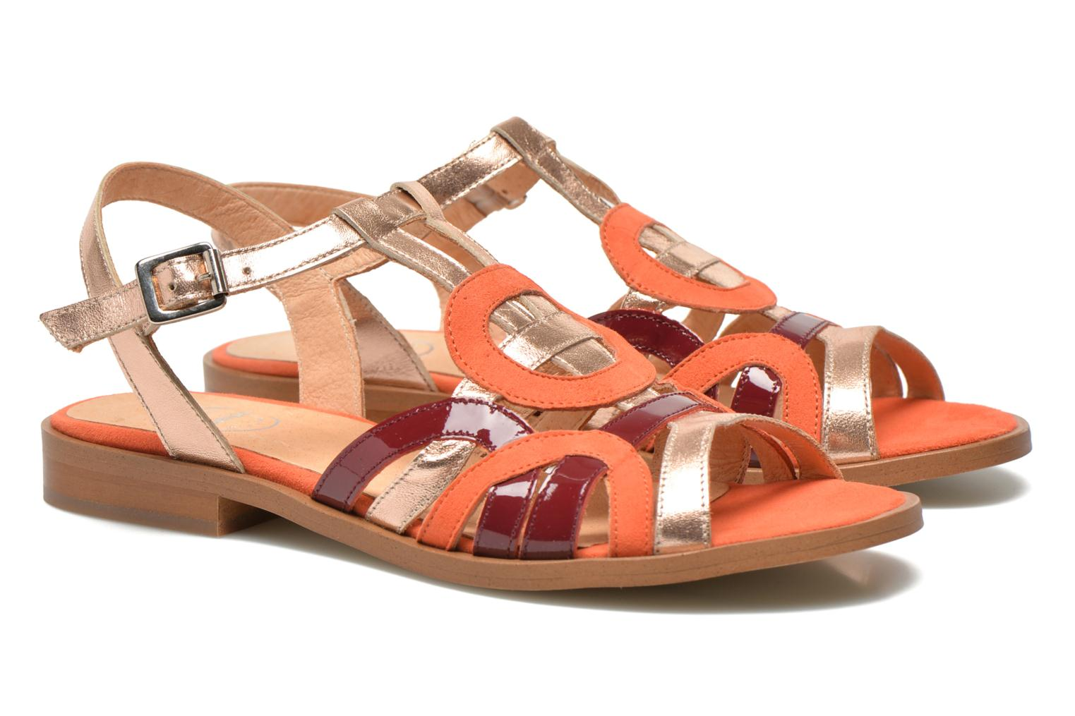 Sandalen Made by SARENZA Square Simone #2 orange ansicht von rechts